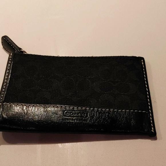 Coach key ring wallet